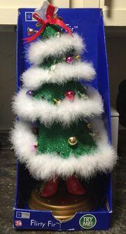 GEMMY ANIMATED DANCING FLIRTY FIR CHRISTMAS TREE~SANTA BABY NIB 2005