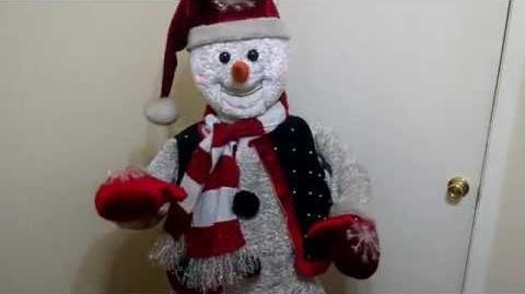 Very rare Gemmy 5ft animated Snowman