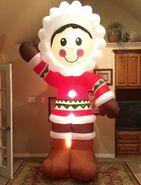 Gemmy Prototype Christmas Eskimo Inflatable Airblown