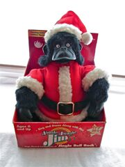Gemmy Jungle Jim singing christmas gorila