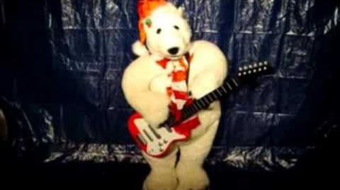 17036 Gemmy 4ft Animated Guitar Playing Bear Song 1