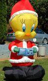 GEMMY 8 FT LOONEY TUNES CHRISTMAS CAROLLING TWEETY BIRD AIRBLOWN INFLATABLE