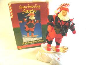 Gemmy snowboarding santa