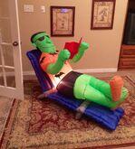 Gemmy Prototype Halloween Beach Frankenstein Inflatable Airblown