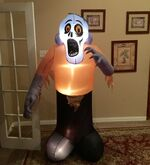 Gemmy Prototype Halloween Shaking Monster Inflatable Airblown