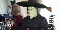 Life size sitting Wicked Witch of the West