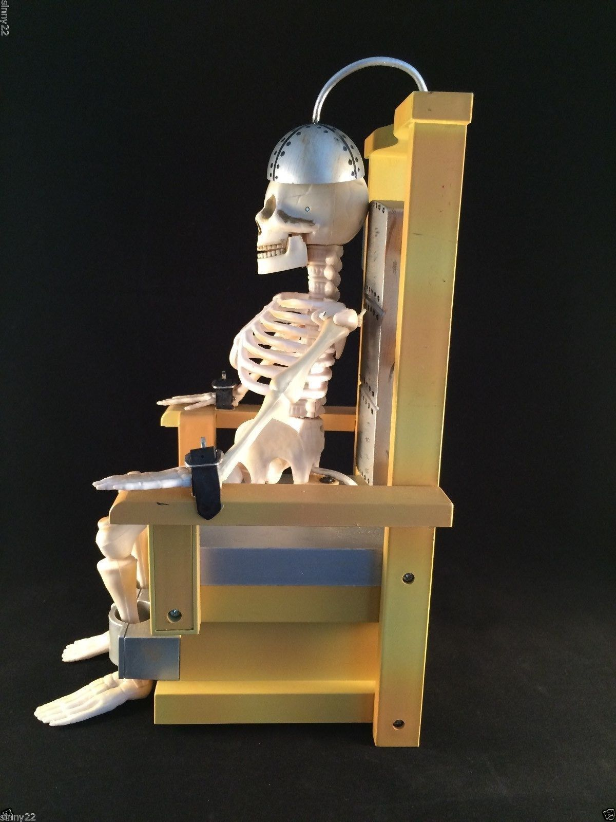 Image rare shock me sherlock joltin jack animated gemmy electric chair skeleton gemmy - Cb industry chair ...