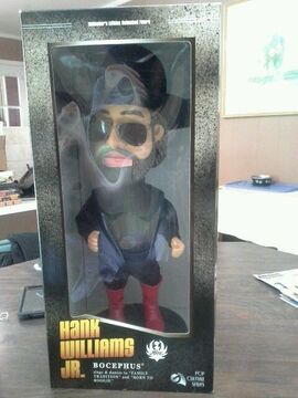 Hank williams jr,pop culture series animated doll