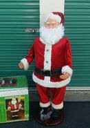 Gemmy 50'' Tall Life size Animated Singing Dancing SANTA CLAUS W MIC