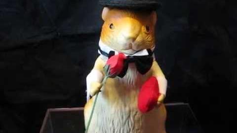 Gemmy Rubber Dancing Hamster - Larry Love Rare Prototype(?)