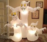 Gemmy Prototype Halloween Creepy Ghosts Inflatable Airblown