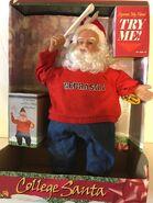 Gemmy Nebraska Huskers College Santa Animated Musical Waves Pennant