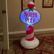 Gemmy Prototype Christmas North Pole Sign Inflatable Airblown