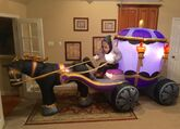 Gemmy Prototype Halloween Carriage Inflatable Airblown
