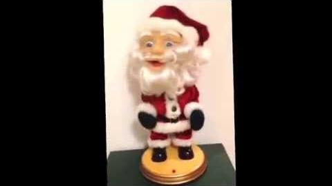 RARE Gemmy Big Head Dancing Santa (When Santa Clause Gets Your Letter)