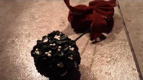 Christmas talking kissing mistletoe