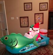 Gemmy Prototype Christmas Fishing Inflatable Airblown