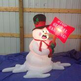 Gemmy inflatable melting snowman