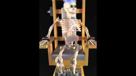 Sinny's Stuff Shock Me Sherlock Electric Chair Skeleton Animated Prop