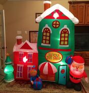 Gemmy Prototype Christmas Santa's Toy Shop Inflatable Airblown