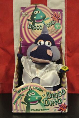 Singing toy disco dino