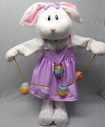 2005 Gemmy Easter Greeter Girl Bunny Rabbit Sound & Motion Easter Decor