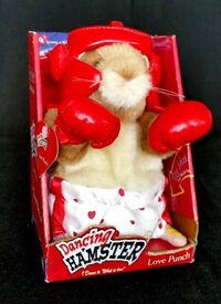 Gemmy 2003 Dancing Boxing Singing to What Is Love Hamster Love Punch Origin Box