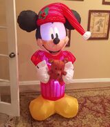 Gemmy Prototype Christmas Mickey Mouse in Pajamas Inflatable Airblown