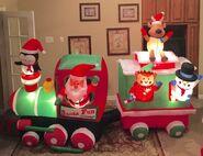 Gemmy Prototype Christmas Santa Fun Railways Inflatable Airblown