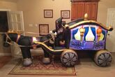 Gemmy Prototype Halloween Haunted Carriage Hearse Inflatable Airblown
