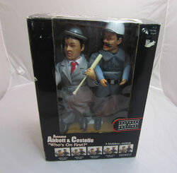 Abbott and Costello WHO'S ON FIRST animated figures