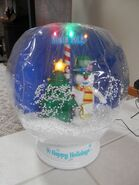 Gemmy Inflatable Frosty The Snowman Snow Globe airblown Motion Music Lights