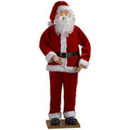 5 Foot Animated Life Size Dancing Santa Claus