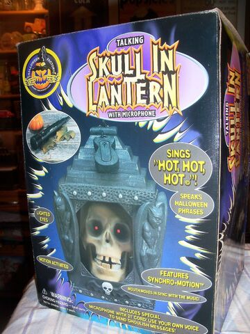 File:HALLOWEEN FACTORY GEMMY TALKING SKULL IN LANTERN WITH MICROPHONE DECORATION.jpg
