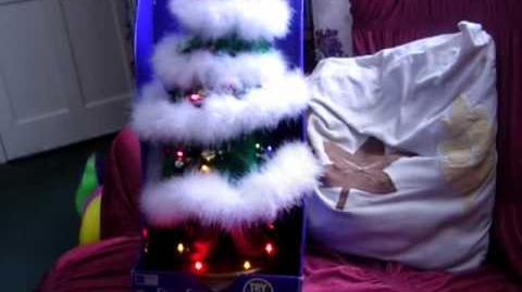 "(Gemmy) (Christmas) Flirty Fir - RARE - ""Santa Baby"" (Restored!)"