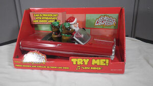Gemmy Lighted Animated Hopping Santa Christmas Reindeer Low Rider