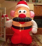 Gemmy Prototype Christmas Mr. Potato Head Inflatable Airblown