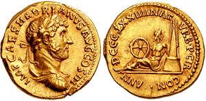 Aureus - Adriano - RIC 0144
