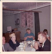 Wedding reception of Nancy Knutsen Dietz on September 15, 1968