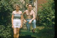 Naida Freudenberg and Burnett Peter Van Deusen in 1955 in Jersey City