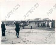 Eddie August Schneider (1911-1940) landing in Los Angeles, California on August 19, 1930