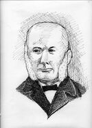 Anton Julius Winblad I (1828-1901) in a pen and ink drawing by Kathleen Cuneo
