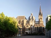 Aachen Cathedral North View at Evening
