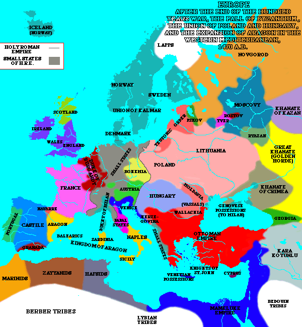 Europe in 1470
