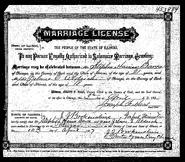 Aldrich Barca 1907 marriage
