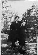Eddie August Schneider (1911-1940) and Gretchen Frances Hahnen (1902-1986) circa 1934-1935