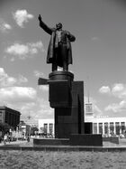 Lenin in front of Finland Station
