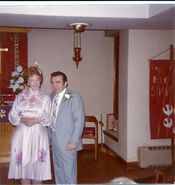 Wedding of Albert Brindley (1927 - 2001) and Helen Eloise Freudenberg on November 30, 1980 at the chapel of the Lutheran Home at 93 Nelson Street, Jersey City, New Jersey