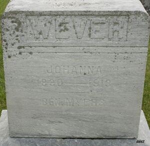 Johanna (Myers) Wever 1830-1913 Bentheim Cem