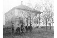 Fred Erickson Family in new house